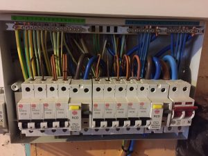 A picture showing all of the wiring within a Consumer Unit that has been safely installed by the electrical contractors at London Electricians