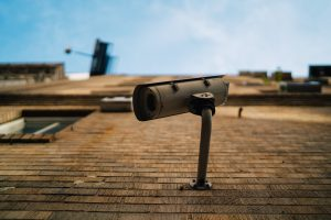 A picture of home CCTV being used for extra security at a residential property