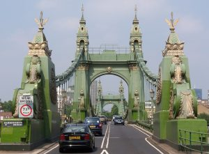 An image of Hammersmith Bridge, one of the landmarks of the Hammersmith & Fulham areas
