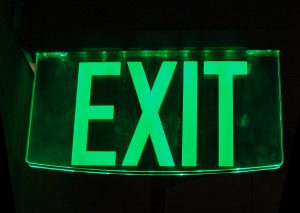 Emergency lighting exit sign